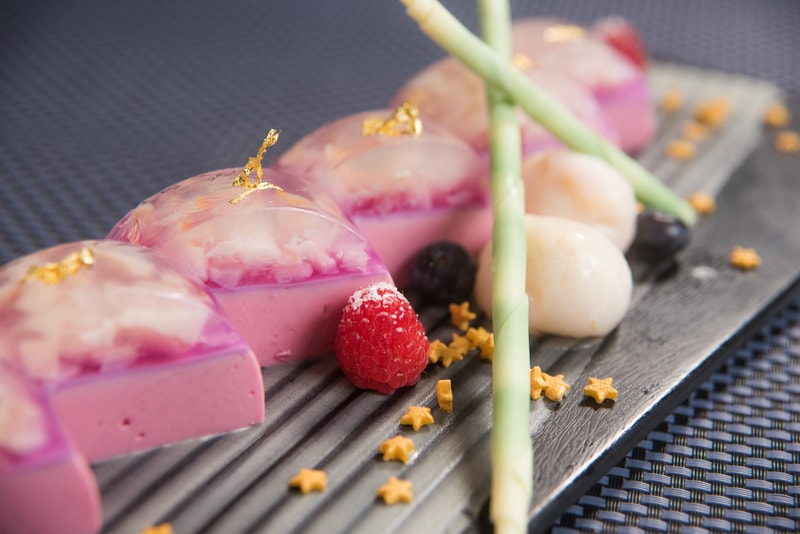 Raspberry Panna Cotta with Lychee Jelly紅桑子奶凍配荔枝啫喱 Harbour Restaurant - The Harbourview - 灣景廳 - 灣景國際 OKiBook Hong Kong Restaurant Booking 9