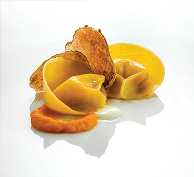 Handmade Chapon Tortellini with Pumpkin Puree, Grana Padano Sauce and Alba's White Truffle  - Alto 88 Regal Hongkong 富豪香港酒店Heinz Beck 3 star Michelin guest chef - OKiBook Hong Kong Restaurant Booking