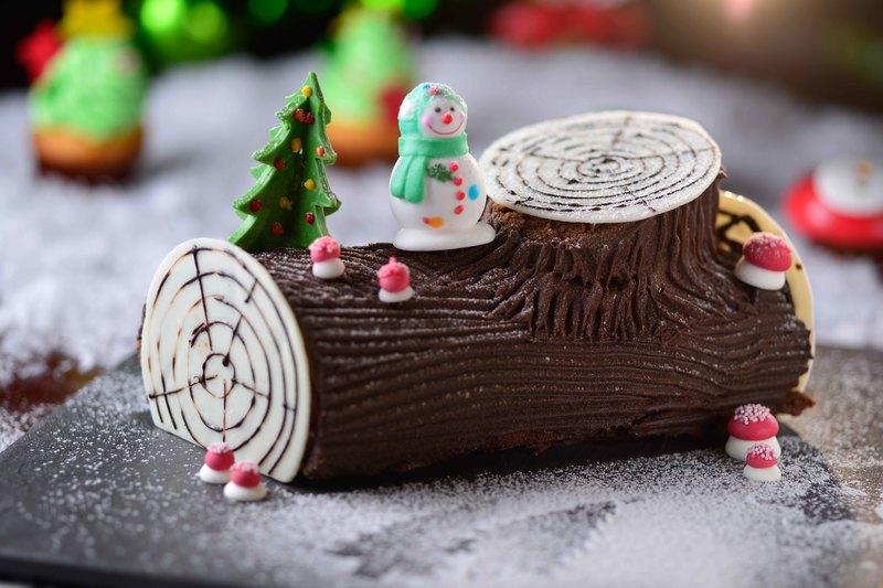 Prince Hotel add@Prince - 太子酒店 - OKiBook Hong Kong Restaurant Booking - Chocolate Yule log cake 聖誕樹頭蛋糕