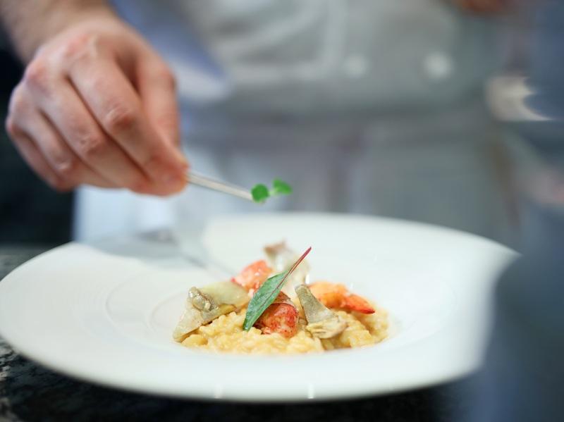 Risotto with Blu Lobster, Roman Artichoke and Mascarpone Cheese 龍蝦雅枝竹意大利...