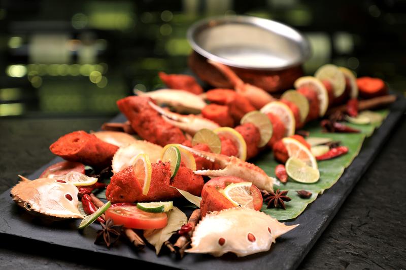 Yamm The Mira Hong Kong - OKiBook Hong Kong Restaurant Buffet booking 自助餐預訂香港 Crab Buffet_Crab & Prawn Meat Kebabs