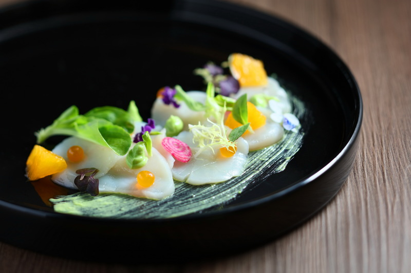 Cucina Marco Polo Hongkong Hotel 馬哥孛羅香港酒店 OKiBook Hong Kong Restaurant Booking 自助餐預訂香 - Hokkaido Scallop Carpaccio with Citrus Salad Avocado and Mango Pearls 北海道帶子薄片JPG