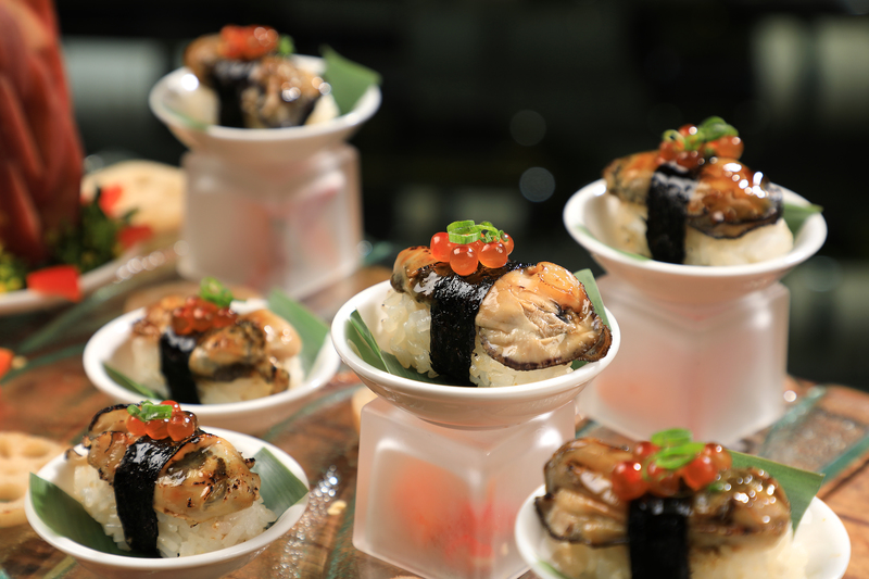 Yamm The Mira Hong Kong - OKiBook Hong Kong Restaurant Buffet booking 自助餐預訂香港 - Oyster Buffet_Flamed Oyster Sushi