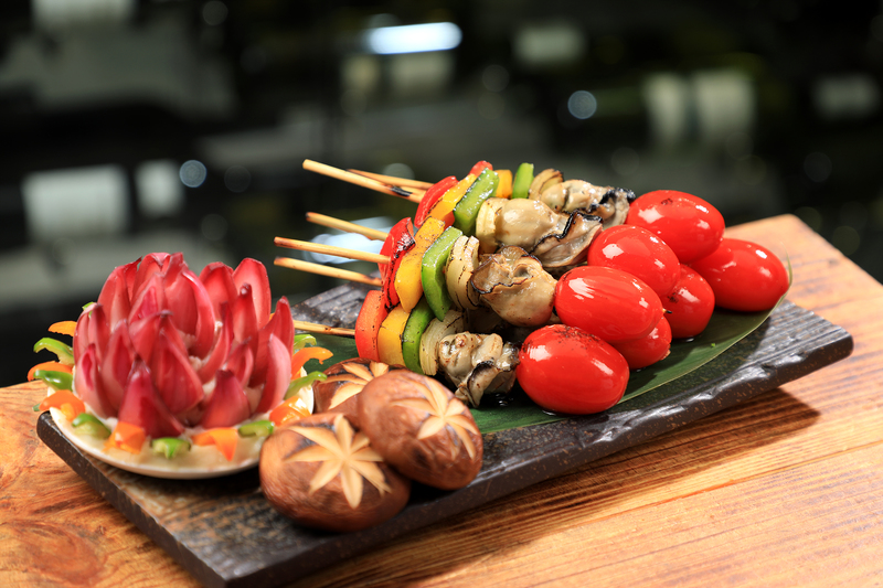 Yamm The Mira Hong Kong - OKiBook Hong Kong Restaurant Buffet booking 自助餐預訂香港 - Oyster Buffet_Oyster & Veggie Skewers