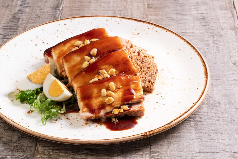Satay Inn Royal Pacific - City Garden Hotel - 沙嗲軒 - 皇家太平洋酒店 - 城市花園酒店 - Nyonya menu 娘惹風味 - Braised pork belly in fermented soy bean sauce 豆醬燴花肉